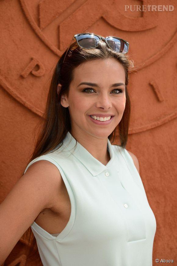 Marine Lorphelin à Roland Garros. La belle est aujourd'hui en train d'amorcer une reconversion professionnelle !