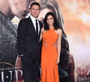 """Jenna Dewan venue soutenir son mari Channing Tatum à la première de """"Jupiter ascending"""" le 2 février 2015 à Los Angeles."""