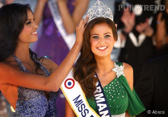 Malika Ménard, couronnée par Chloé Mortaud. Miss France 2010 travaille dur pour garder un corps de reine de beauté !