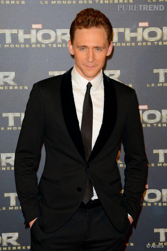 """Tom Hiddleston, le Loki de """"Thor"""" arrive troisième de la liste de  Glamour UK ."""