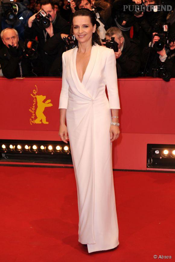 Juliette Binoche, somptueuse à l'ouverture de la 65ème Berlinale.