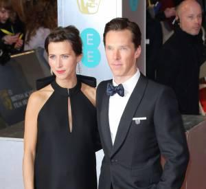Benedict Cumberbatch et sa fiancée Sophie Hunter, duo élégant aux BAFTA 2015.