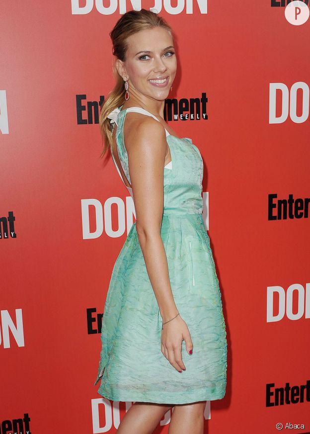 """Scarlett Johansson à l'avant-première de """"Donjon"""", en septembre 2013 à New York."""