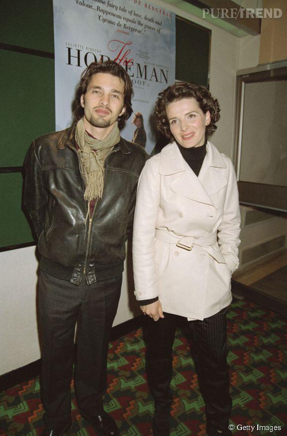 Juliette Binoche et Olivier Martinez en 1995.