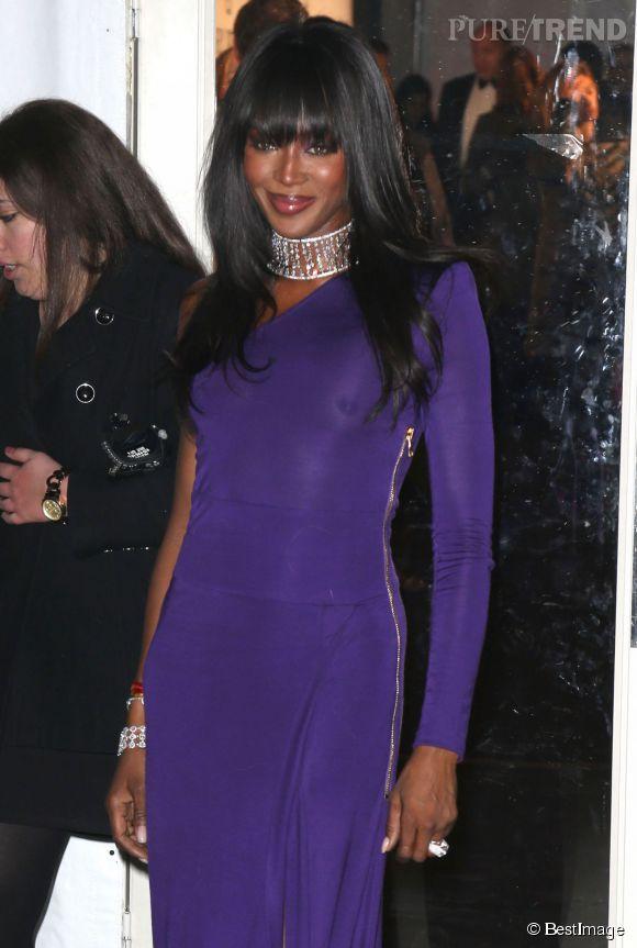 Naomi Campbell au gala de l'amfAR mercredi 11 février 2015.