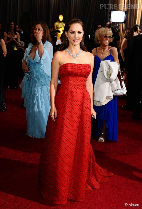 Natalie Portman en Dior Vintage lors des Oscars 2012.
