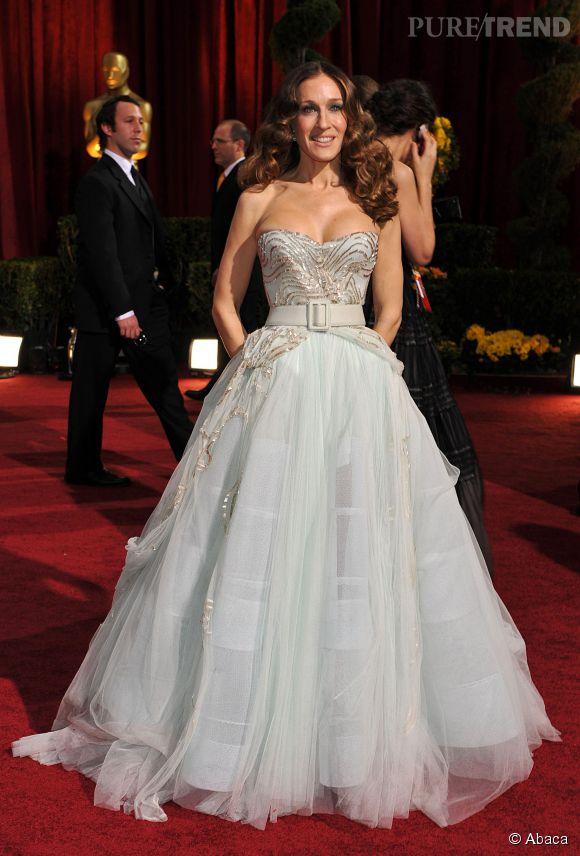 Sarah Jessica Parker en Dior Haute Couture lors des Oscars 2009.
