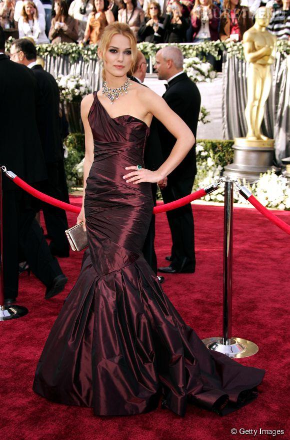 Keira Knightley en Vera Wang lors des Oscars 2006.