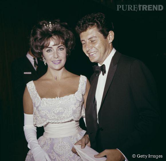 Liz Taylor lors des Oscars 1960.