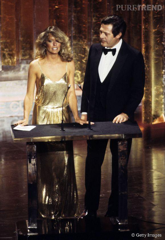 Farrah Fawcett lors des Oscars 1978.