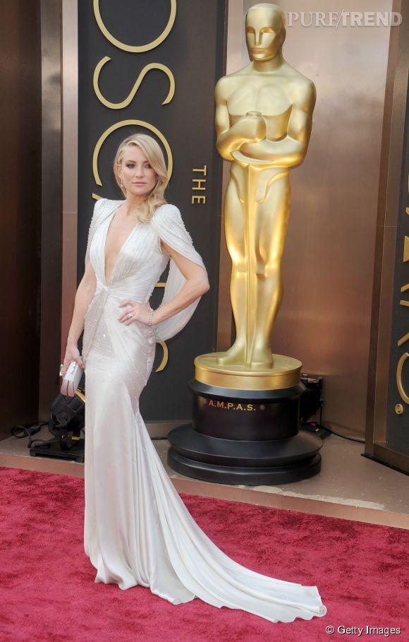 Kate Hudson en Atelier Versace lors des Oscars 2014.
