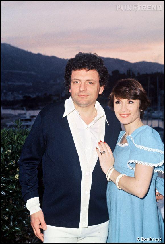 Danièle Evenou et Jacques Martin en 1976.