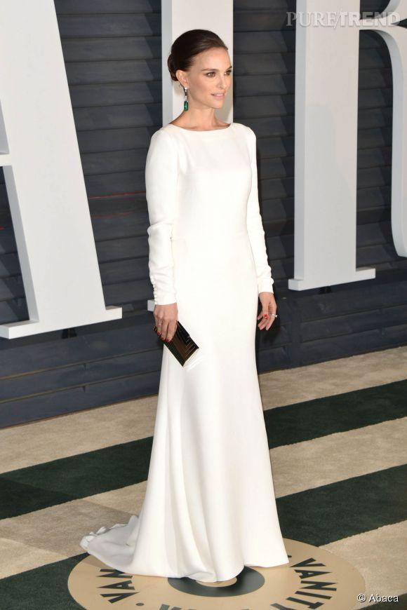 Natalie Portman en Dior lors de la soirée post Oscars organisée par  Vanity Fair  le 22 février 2015 à Los Angeles.