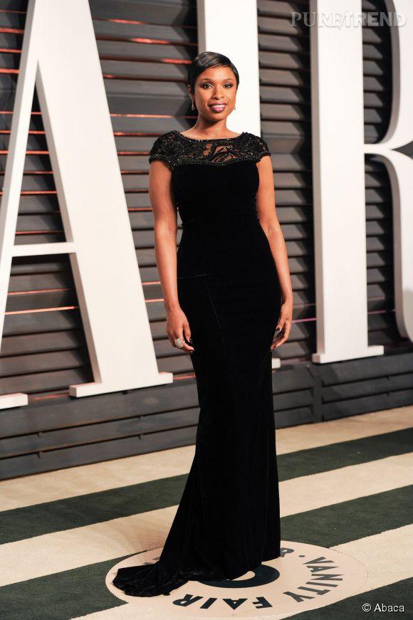 Jennifer Hudson en Lorena Sarbu lors de la soirée post Oscars organisée par  Vanity Fair  le 22 février 2015 à Los Angeles.
