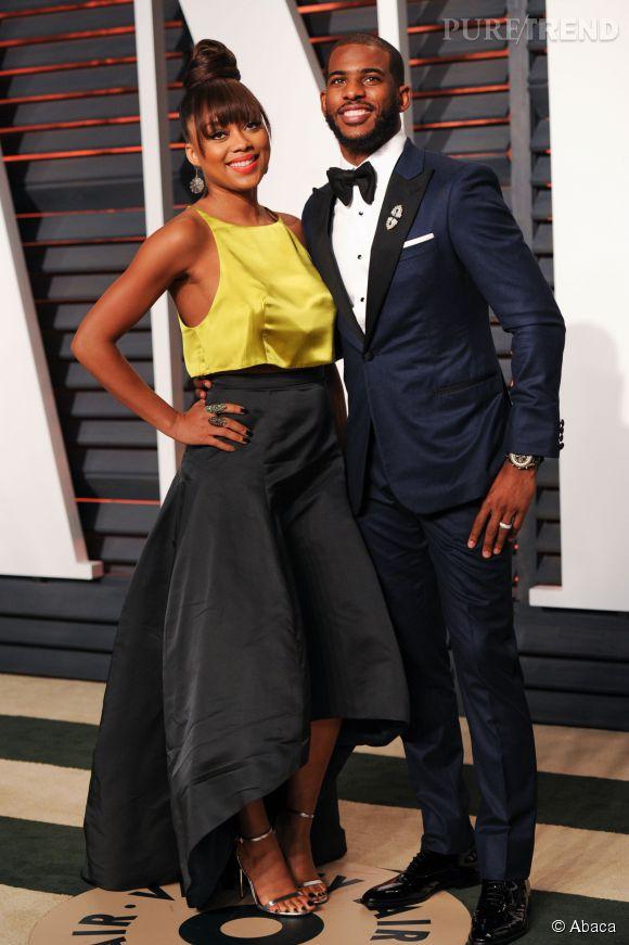 Jada Crawley et Chris Paul lors de la soirée post Oscars organisée par  Vanity Fair  le 22 février 2015 à Los Angeles.
