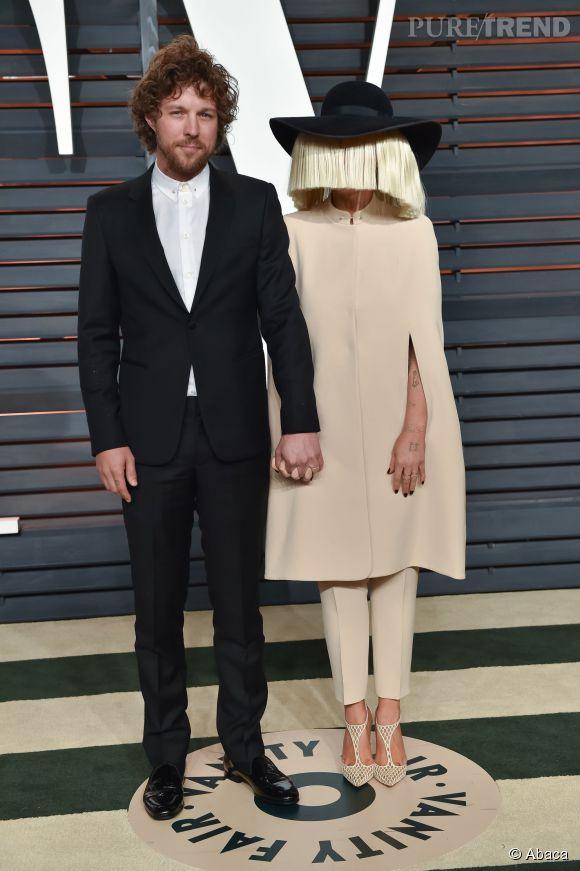 Erik Anders Lang et Sia lors de la soirée post Oscars organisée par  Vanity Fair  le 22 février 2015 à Los Angeles.