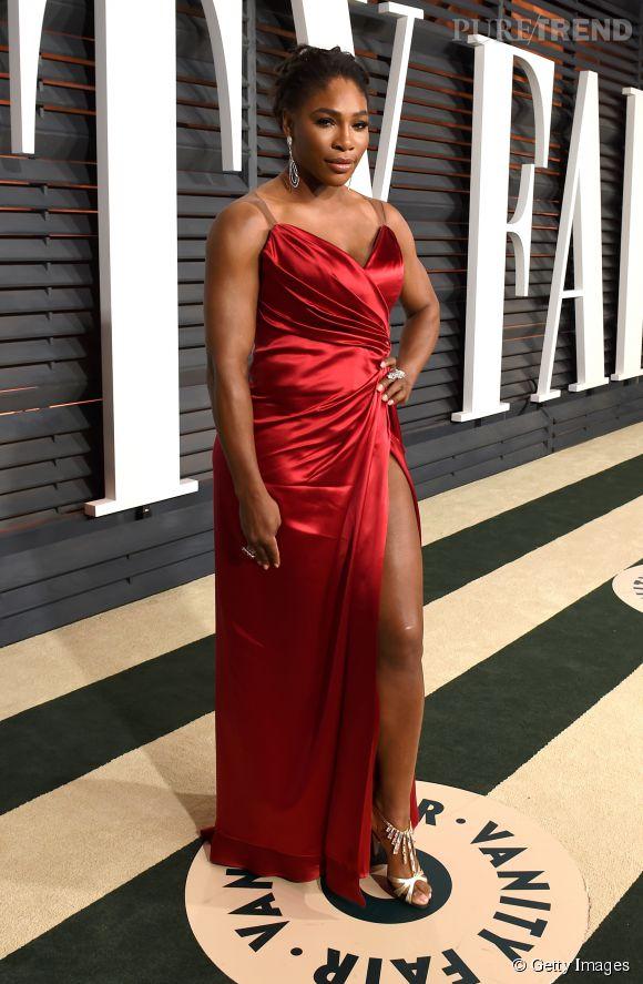 Serena Williams lors de la soirée post Oscars organisée par  Vanity Fair  le 22 février 2015 à Los Angeles.
