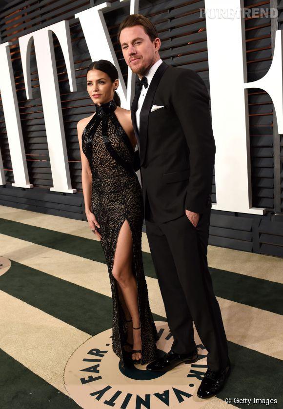 Jenna Dewan Tatum en Zuhair Murad et Channing Tatum lors de la soirée post Oscars organisée par  Vanity Fair  le 22 février 2015 à Los Angeles.