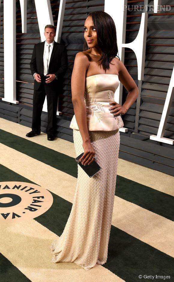 Kerry Washington lors de la soirée post Oscars organisée par  Vanity Fair  le 22 février 2015 à Los Angeles.
