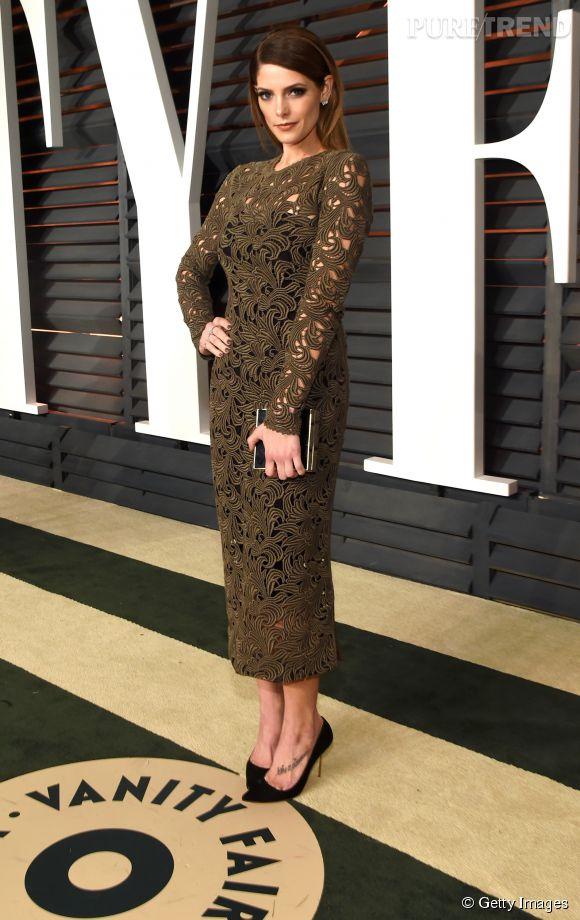 Ashley Greene lors de la soirée post Oscars organisée par  Vanity Fair  le 22 février 2015 à Los Angeles.
