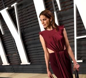 Michelle Monaghan en Monique Lhuillier lors de la soirée post Oscars organisée par Vanity Fair le 22 février 2015 à Los Angeles.