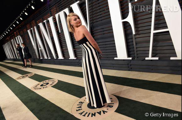 Margot Robie en Dior lors de la soirée post Oscars organisée par  Vanity Fair  le 22 février 2015 à Los Angeles.