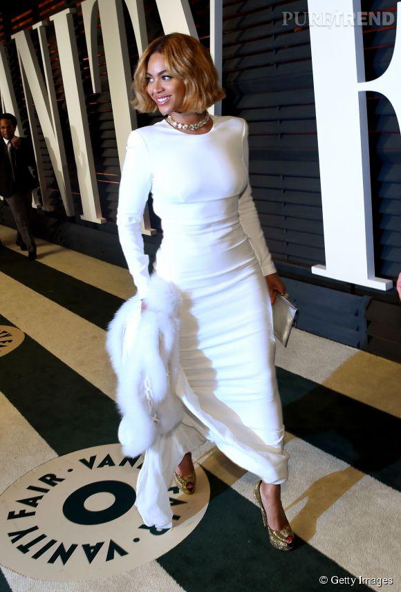 Beyoncé en Stella McCartney lors de la soirée post Oscars organisée par  Vanity Fair  le 22 février 2015 à Los Angeles.