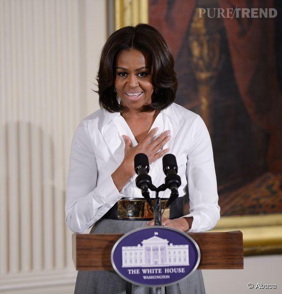 Michelle Obama rend hommage à ces femmes noires qui ont permis de faire avancer la cause des Afro-américains aux États-Unis, ce vendredi 20 février 2015.