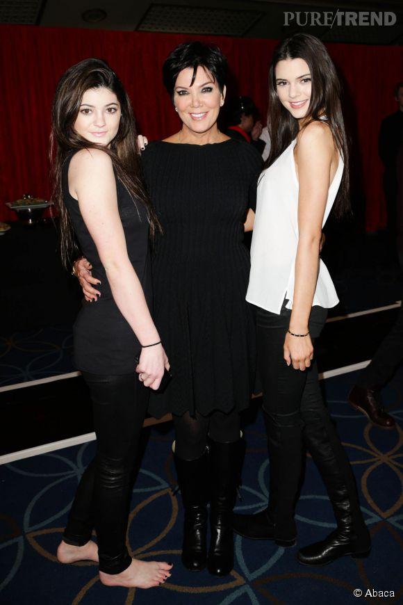 Kris Jenner et ses deux filles cadettes Kylie et Kendall.