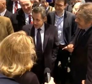 Nicolas Sarkozy au Salon de l'Agriculture de Paris, ce mercredi 25 février 2015.