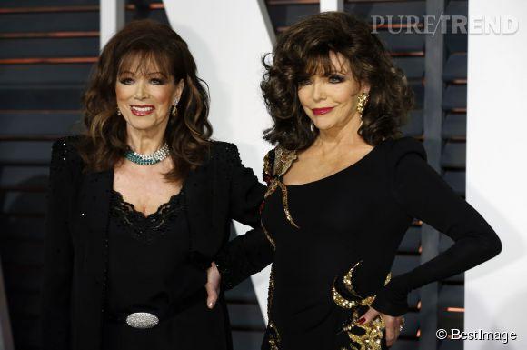 Joan (à droite), 81 ans, et Jackie Collins, 77 ans. Des quasi-soeurs jumelles qui ne font pas leurs âges.