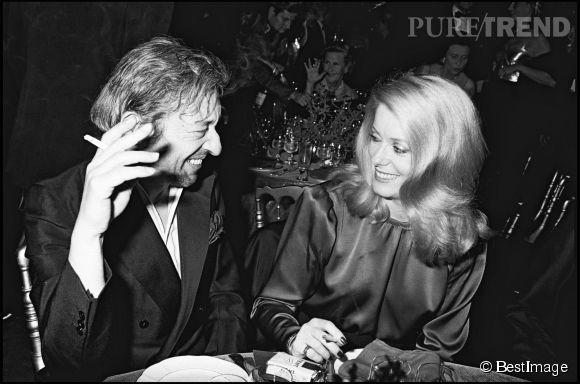 Catherine Deneuve et Serge Gainsbourg sortaient souvent ensemble, au point d'éveiller les soupçons sur la nature de leur relation.