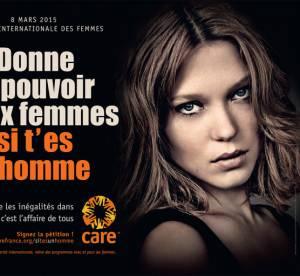 """CARE France, la campagne choc : """"Donne du pouvoir aux femmes si tu es un homme"""""""
