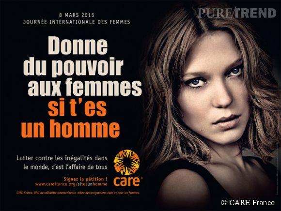 Léa Seydoux prête son image à CARE France et sa campagne 2015 pour défendre les droits et l'empowerment des femmes.