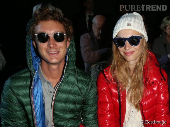 Pierre Casiraghi et sa petite amie Beatrice Borromeo au défilé Moncler Gamme Rouge le mercredi 11 mars 2015 à Paris.