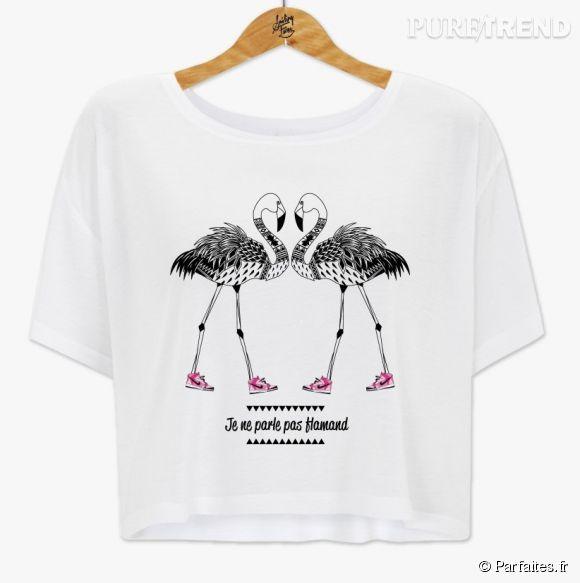 T-shirt Clandestine, 23,20 euros. Actuellement vendu sur le site Parfaites.fr.