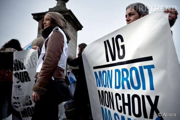 En France, les défenseurs du droit à l'avortement sont descendus dans la rue en février 2014 pour défendre l'IVG.