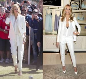 Charlize Theron vs Heidi Klum : deux blondes en smoking white