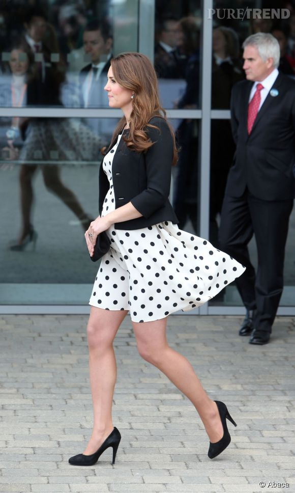 Kate Middleton a souvent été victime de coups de vent.
