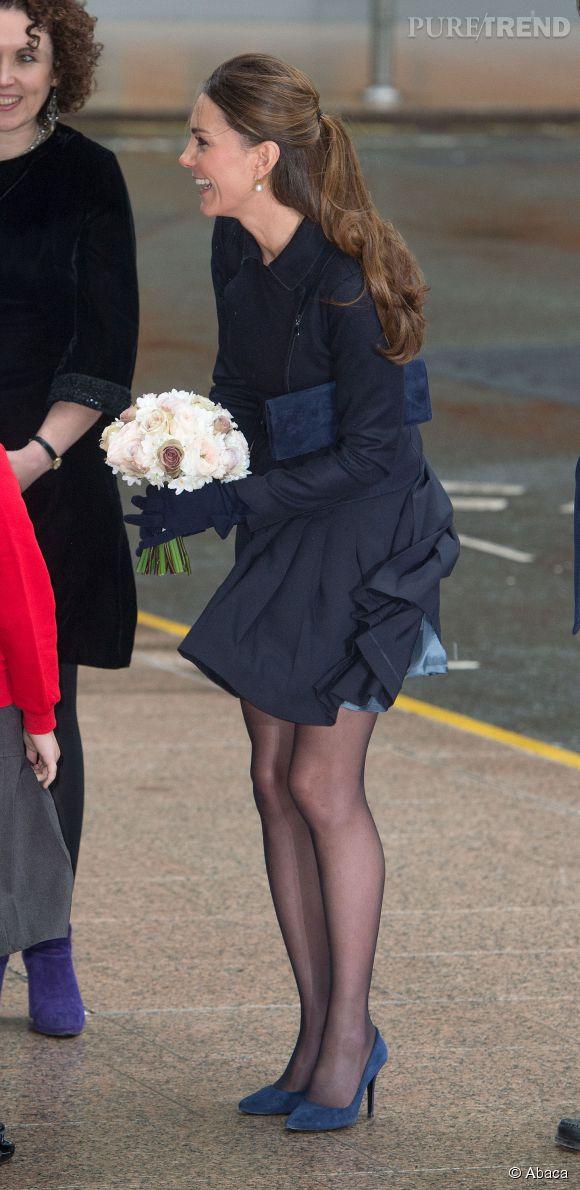 Kate Middleton et sa jupe volante.