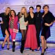 Estelle Lefebure, Victoria Abril, Arielle Dombasle, Blana Li, Farida Khelfa et Rossy De Palma réunies pour Jean-Paul Gaultier.