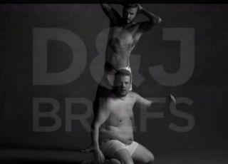 David Beckham à moitié nu avec James Corden en vidéo