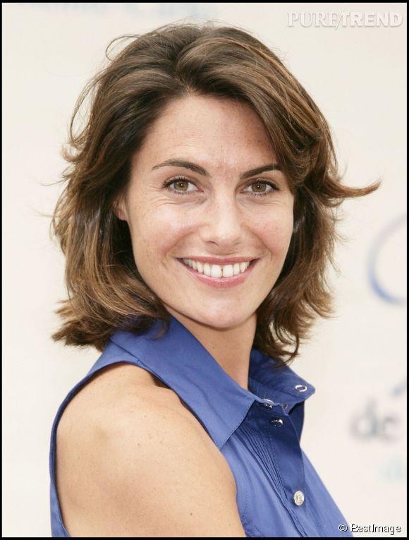 Alessandra Sublet avait encore les cheveux longs en 2008 mais déjà un look très naturel.