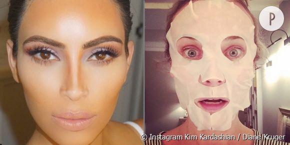 Kim Kardashian, Diane Kruger... Les stars nous montrent leur routine beauté.