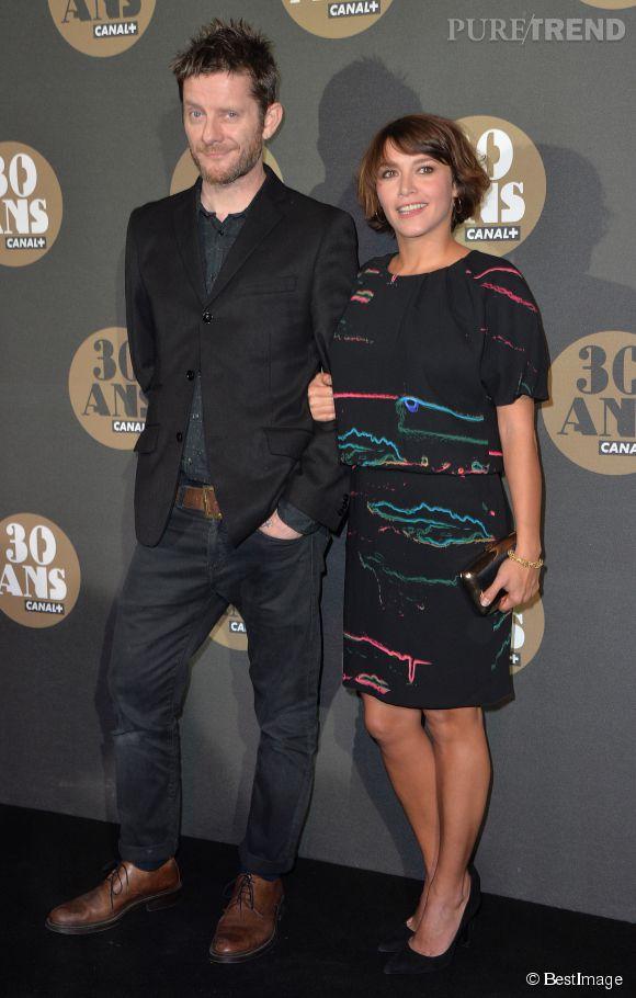 Emma de Caunes et son mari Jamie Hewlett lors de la soirée des 30 ans de Canal+. Ils se sont mariés en 2011.