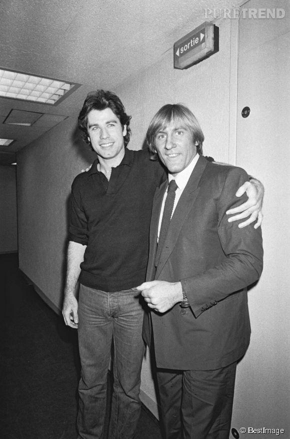 Gérard Depardieu et John Travolta en 1981.