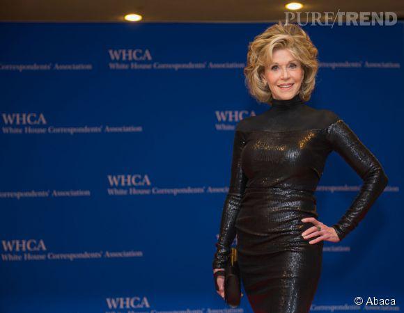 Jane Fonda était sculpturale au dîner des correspondant à la Maison Blanche le 25 avril 2015.