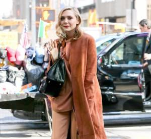 Elizabeth Olsen, modeuse solaire en total look orange : à shopper !