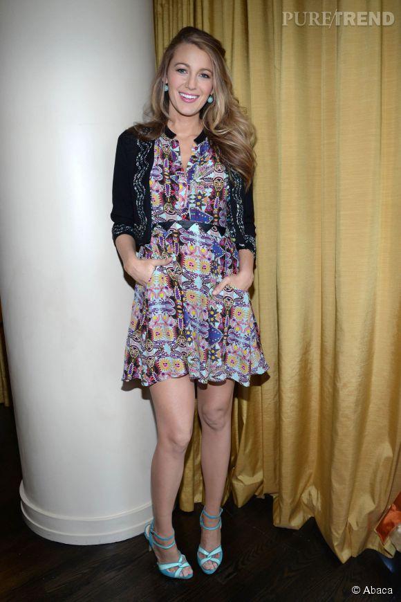 "Blake Lively assure la promo de ""The Age of Adaline"" à New York le 4 mai 2015."
