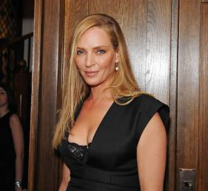 "Uma Thurman à la soirée de lancement de ""Icons of Styles"" organisée par Michael Kors, Vanity Fair et Fashion & Cinema à Londres le 14 mai 2015."